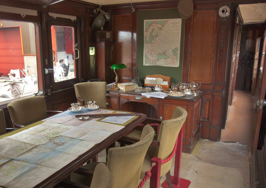 A view inside the dining room of Saloon 45000.