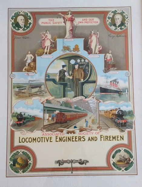 Poster for ASLEF - the Associated Society of Locomotive Engineers and Firemen.