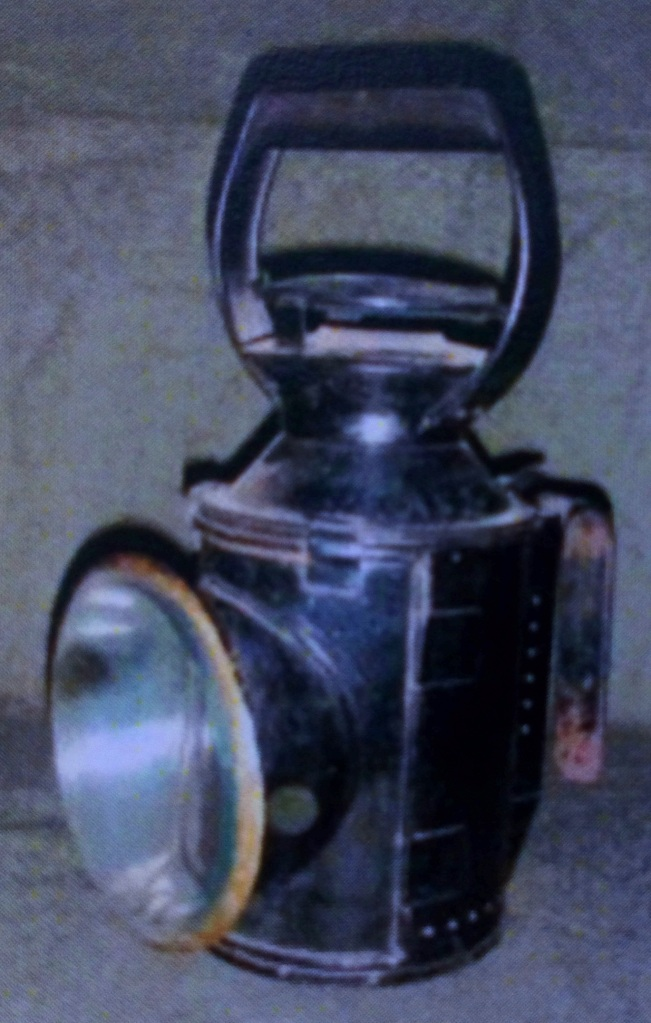 Railway guard's paraffin hand lamp.