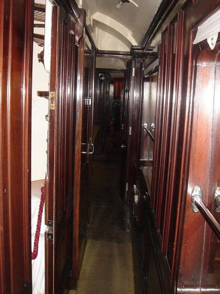 Looking through the corridor of Saloon 45000