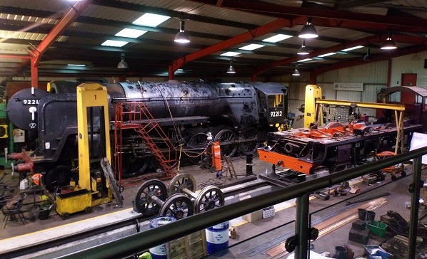 A view into the West Shed engineering workshop.