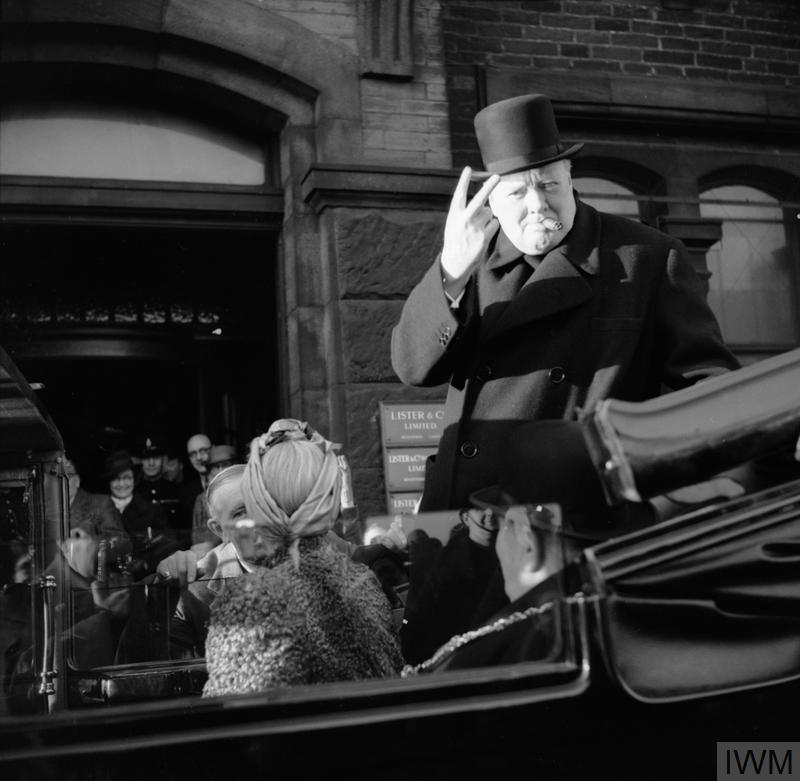 Winston Churchill out in public