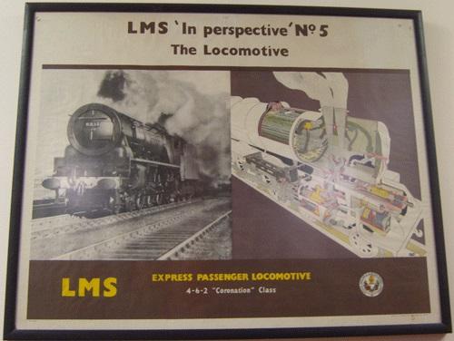 Framed poster - LMS In Perspective - number 5 - the locomotive.
