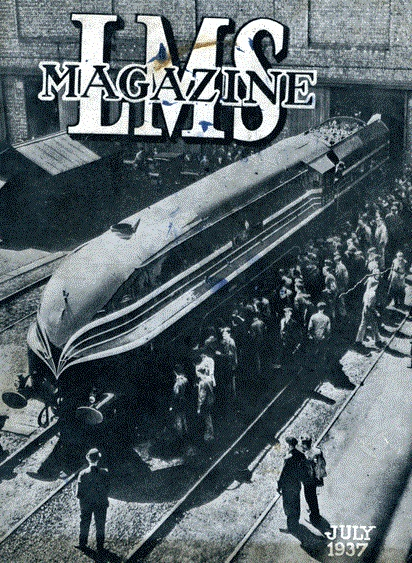 Front cover of the LMS Magazine, July 1937, featuring a photograph of a new locomotive.