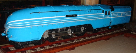 A wooden model of the steam locomotive Princess Alice.