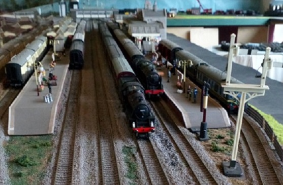 A model railway layout in the West Shed.