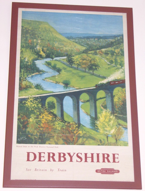 Railway poster featuring the viaduct at Monsal Head in Derbyshire.