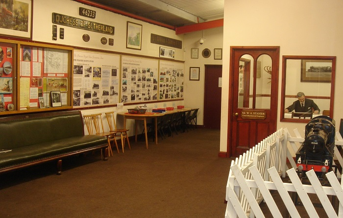 Pictures and objects on display