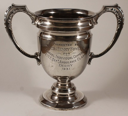 Silver trophy for winners of the Annual Individual Competition Ambulance Class, Derby 1931.