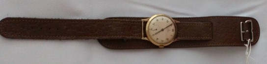 Rolex gold watch given to Mr Child by British Railways on his retirement.